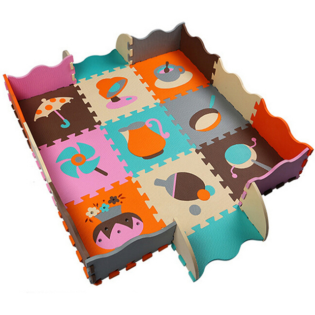 Children Carpet Crawling EVA Foam Puzzle Mats, Non Slip Baby Playmats  Bedroom Developing Rug