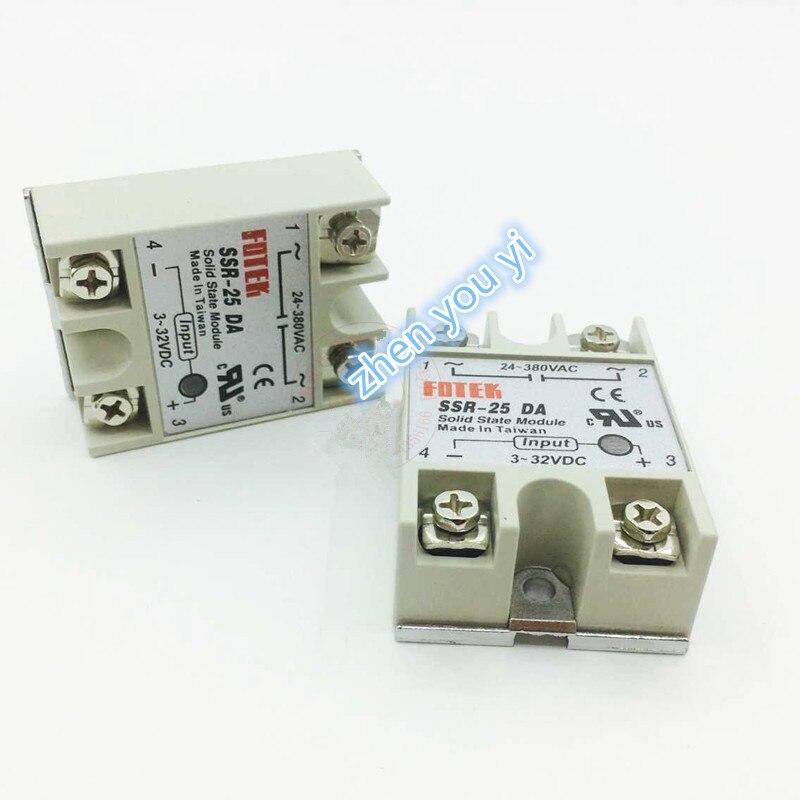 1PCS solid state relay SSR-25DA 25A 5-24VDC TO 24-380V AC SSR 25DA,6-20mA solid state relay ssr 10da ssr 25da ssr 40da 10a 25a 40a actually 3 32v dc to 24 380v ac ssr 10da 25da 40da high quality new