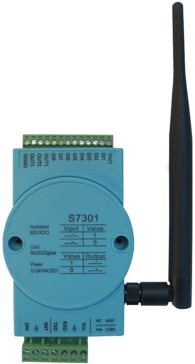 Zigbee wireless data acquisition, digital quantity input/output module modbus rtu rs485