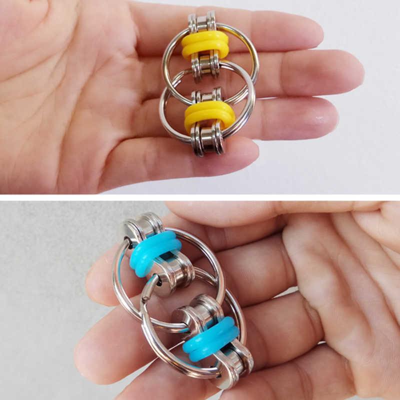 Ручной Спиннер Tri-Spinner уменьшает стресс EDC игрушка при аутизме СДВГ брелок Fidgetde игрушка кончик пальца декомпрессионная цепочка 2019