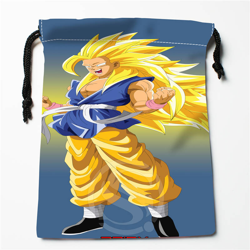 N#V24 New Dragon Ball Z ANIME Custom Logo Printed  Receive Bag  Bag Compression Type Drawstring Bags Size 18X22cm 712&y#V24
