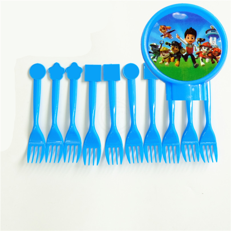 10pcs/lot Disposable Fork Dog Ryder Chase Marshall Kids Birthday party supply event party supplies party decoration set