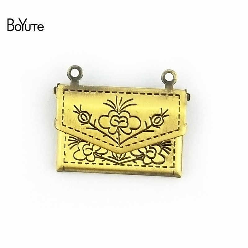 BoYuTe 10 штук 15*20 мм конверт медальон плавающая Память Кулон с фото Подвески для изготовления ювелирных изделий