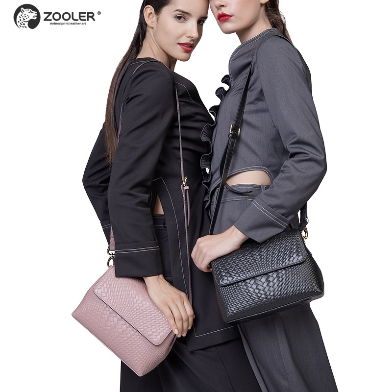 High quality Genuine leather bags women bag ZOOLER luxury designer messenger shoulder bags ladies crossbody clutch bag2019#6152