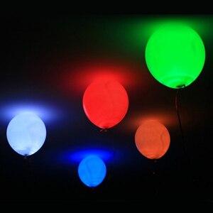 Image 4 - 50 قطعة/الوحدة 12 بوصة الأبيض مزيج Led فلاش بالونات Iuminated بالون إل إي دي توهج عيد ميلاد لوازم حفلات الزفاف ديكور لوازم بالجملة