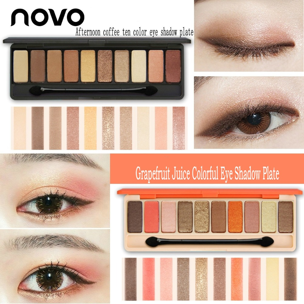 Novo Eye Shadow New Ten Color Palette Matte Pearl Powder Eyeshadow Two Tone Original Silty Delicate Touch Silky Natural Persistent Doc In From Beauty