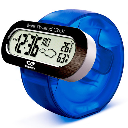 Fashion Mini Water Powered Clock Creative LED Digital Alarm Clock With Temperature Humidity Special Gift