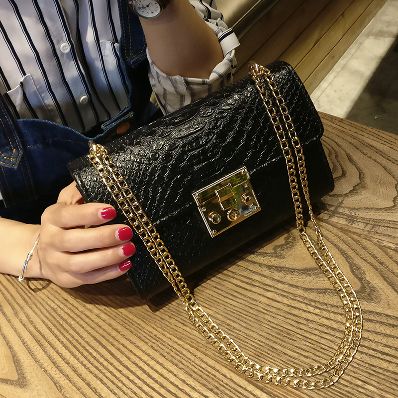 Alligator Leather Messenger Crossbody Bag Women Chain Bags High Quality Mini Small Flap Handbag Purse Fashion Lady Shoulder Bags fashion women pu leather bag high quality mini handbags lady messenger bags chain shoulder crossbody bag for female small clutch page 1