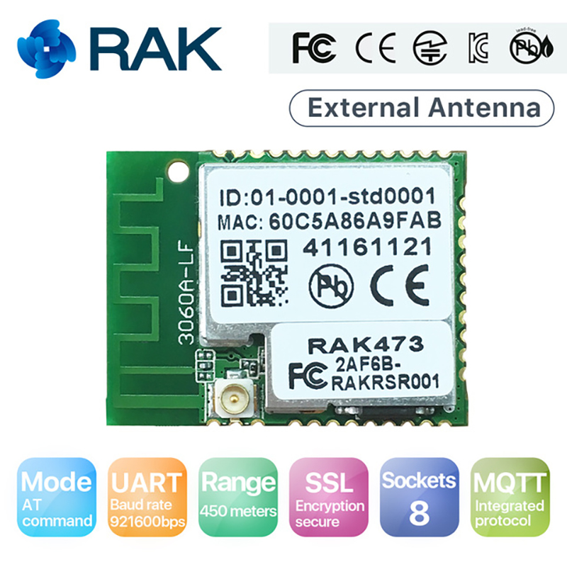 IoT UART WiFi Module Serial to WIFI Wireless Ameba Module Integrated MQTT AT Command Support HTTPS with External Antenna Q120 аль искандер сказки в стихах