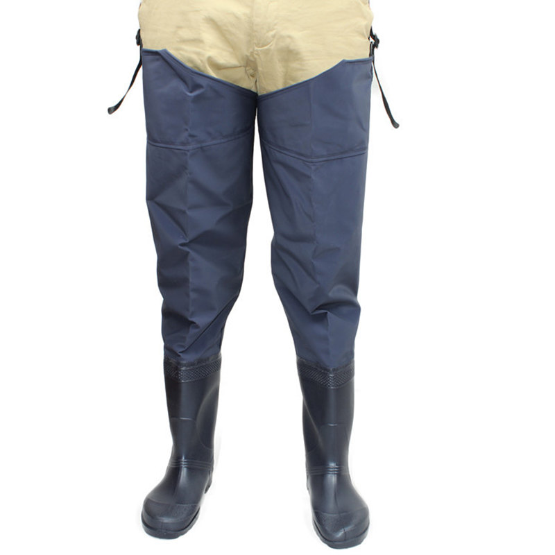 High-Jump Unisex Fishing Waders Leg Pants Super Large Synthetic Leather Boots Thickening Sole One-Piece Fishing Waders Leg PantsHigh-Jump Unisex Fishing Waders Leg Pants Super Large Synthetic Leather Boots Thickening Sole One-Piece Fishing Waders Leg Pants