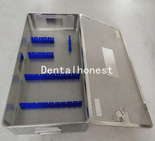 Stainless steel Laparoscope sterilization tray case surgical instrument 5.5cm*2.5cm*10cm