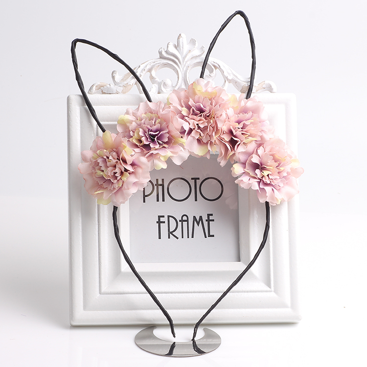 Cute Cat Ears Hairbands For Kids Girls Flower Hair Hoops Party Headband Wedding Headwear Tiaras Girls Hair Accessories