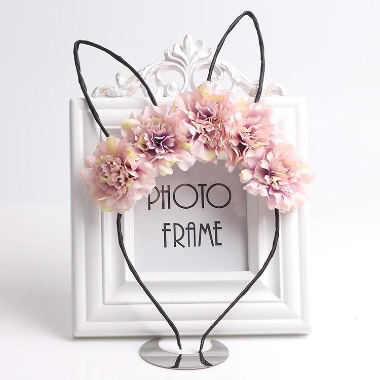 Cute Cat Ears Hairbands For Kids Girls Flower Hair Hoops Party Headband Wedding Headwear Tiaras Girls Hair Accessories