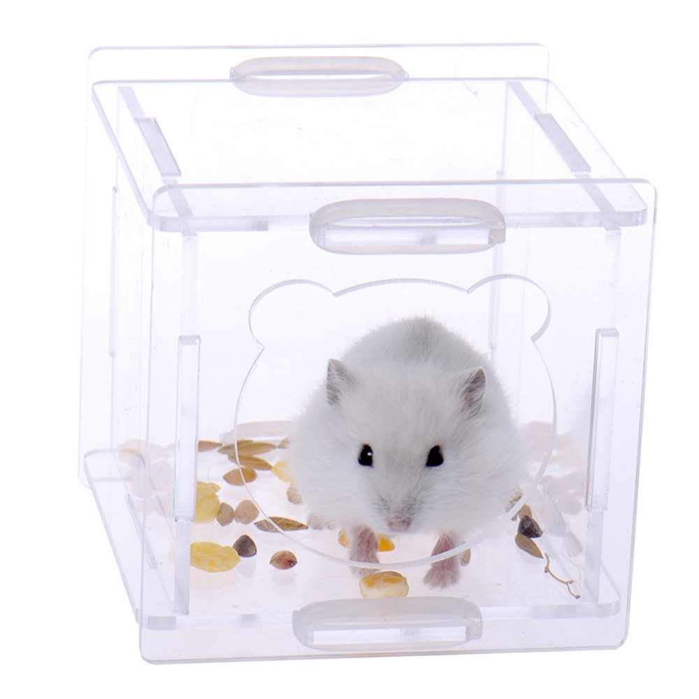 Acrylic hamster cage guinea pig cage clear view hamster for Discount guinea pig supplies