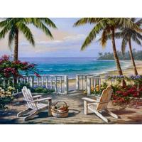 Mediterranean landscape canvas oil paintings Coastal View for wall art home decor