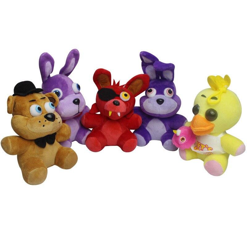 setpcs cm five night at freddyus stuffed plush toys fnaf freddy fazbear bear foxy