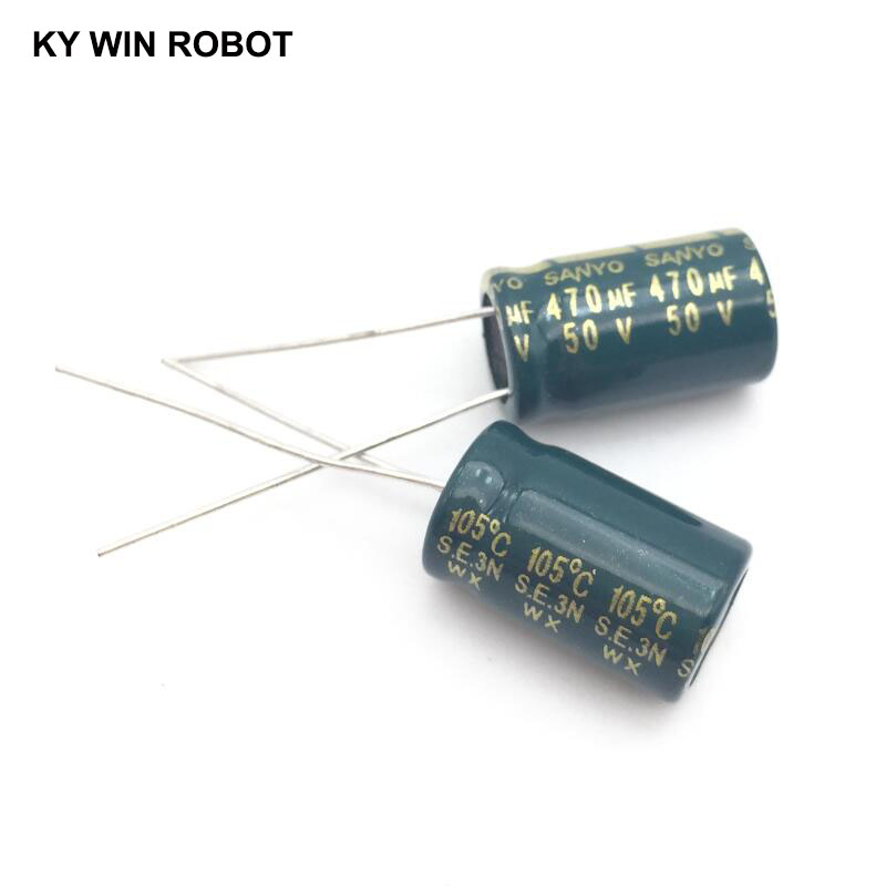 10pcs Electrolytic Capacitors 470UF 50V 10x16mm 105C Radial High-frequency Low Resistance Electrolytic Capacitor