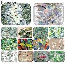 Hongbo Forest Pattern Anti-Slip Carpet Door Mats Doormats Tropical Rain Plant Print Outdoor Kithchen Bathroom Floor Mat