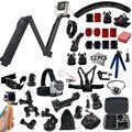 3-полосная монопод Gopro Аксессуары комплект Для GoPro HERO4 Session Камер И SJCAM SJ4000/5000 xiaoyi mi 3 способ сцепление гнездо