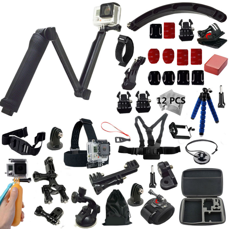 3 Way monopod Gopro Accessories kit For GoPro HERO4 Session font b Cameras b font And