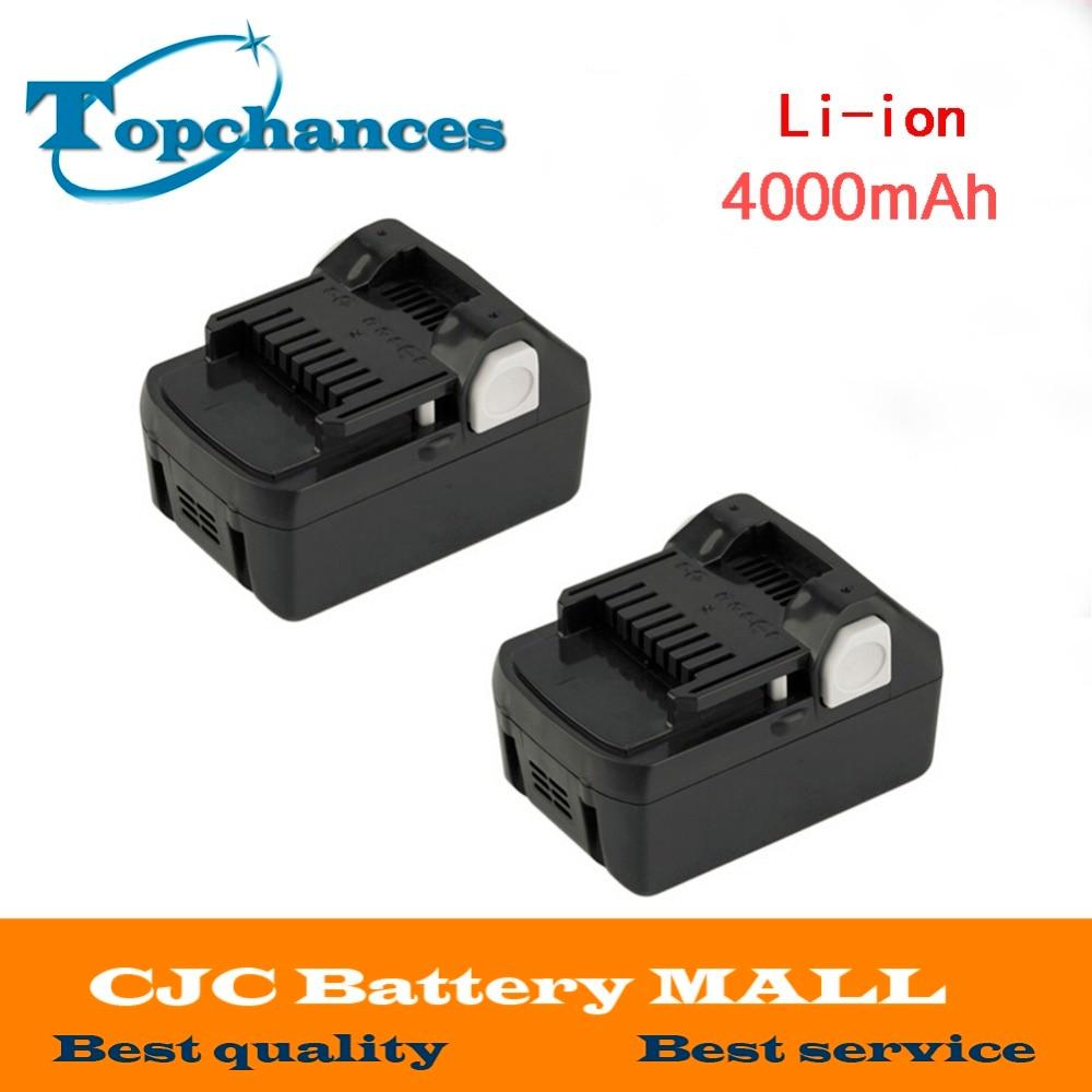 2 pièces haute qualité nouvelle 18 V 4000 mAh batterie d'outil électrique pour Hitachi BSL1830 BSL1840 330067 outil électrique 4000 mAh