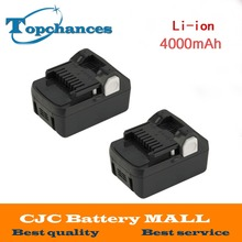2PCS High Quality New 18V 4000mAh Power Tool Battery For Hitachi BSL1830  BSL1840 330067 Power Tool 4000mAh