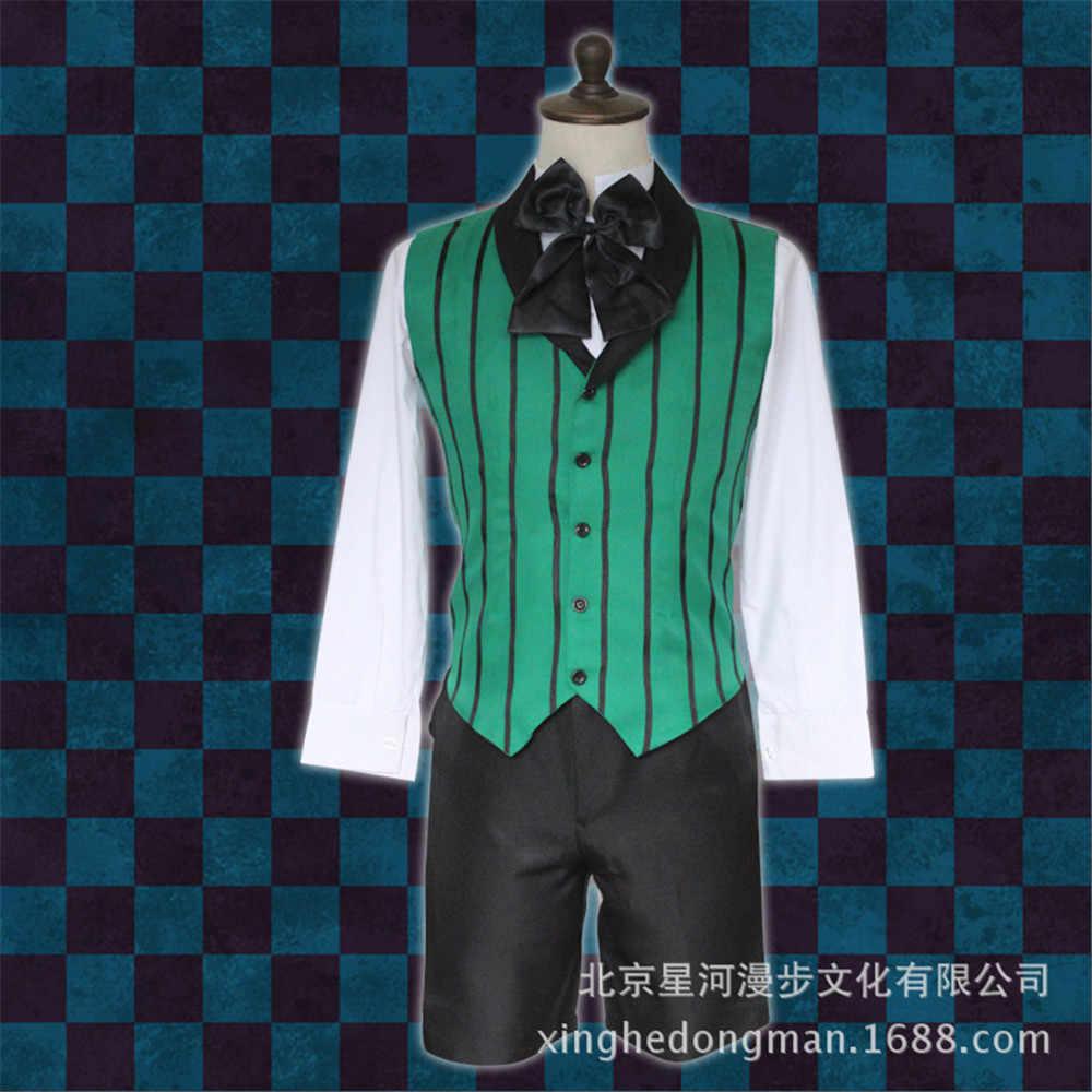 Cosplay negro diácono Classic Alois Trancy disfraz negro Butler emboitement aizti Kuroshitsuji traje de aristocrata conjunto completo