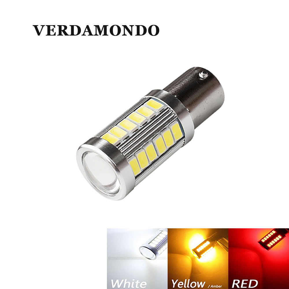 Daytime Running Light BAU15S PY21W LED Yellow White Red Bulb 33 SMD 5730 5630 Reverse LED Turn Signal Lamp DC 12V Super Bright h1 super bright white high power 10 smd 5630 auto led car fog signal turn light driving drl bulb lamp 12v