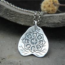 13.20x41.30mm Lotus Buddha Statue Necklace Pendant Jewelry Handmade 990 Sterling Silver Pendant Gift For Women Dropshiping handcrafted 100% 999 silver buddha head pendant vintage pure silver buddha statue amulet pendant buddha