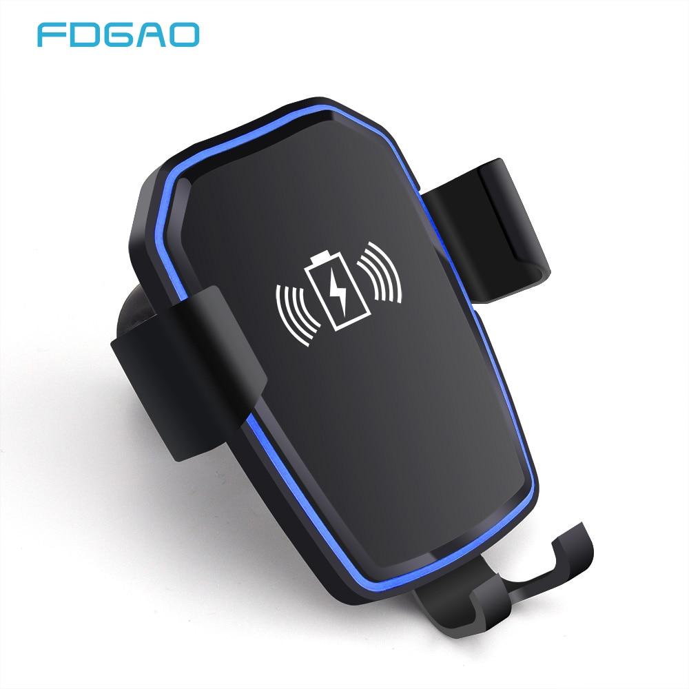 FDGAO QI Drahtlose Auto Ladegerät Automatische Schwerkraft Air Vent Auto Telefon Halter Stehen für iPhone 8 Plus X XS Max XR Samsung S9 S8 S7