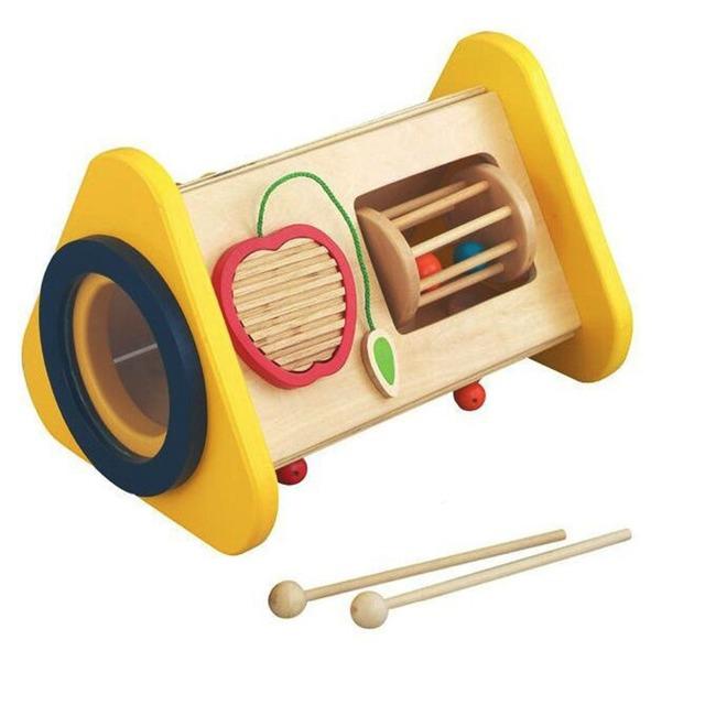 Marca Temprana Melodías 3 en 1 Mighty Mini Banda de Percusión De Madera del Instrumento de Música de Sonido Material Montessori Juguete Educativo