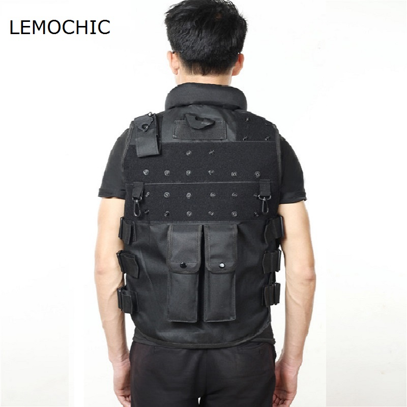 LEMOCHIC Paintball equipment hunting fishing shooting modular assault airsoft military swat tactical combat bullet proof vest