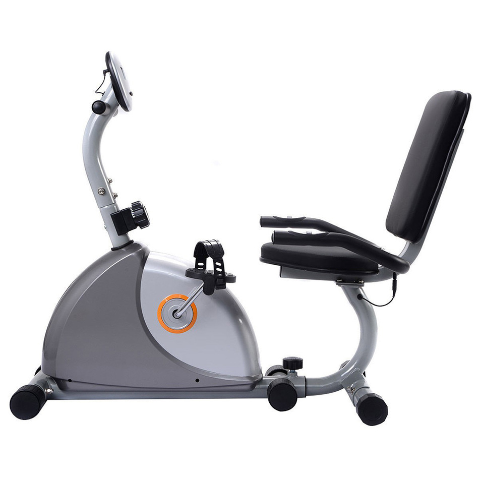 US Delivery Recumbent Ultra-quiet Home Fitness Equipment Indoor Sports Exercise Bike Stationary Bicycle Cardio Workout  Home Gym цена