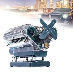Image 2 - Spot V8 Motor Montage Modell Transparent Visuelle Runnable Geburtstag Geschenk Spielzeug