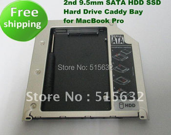 2nd 9.5mm SATA HDD SSD Hard Drive Caddy Bay for Apple Pro 13