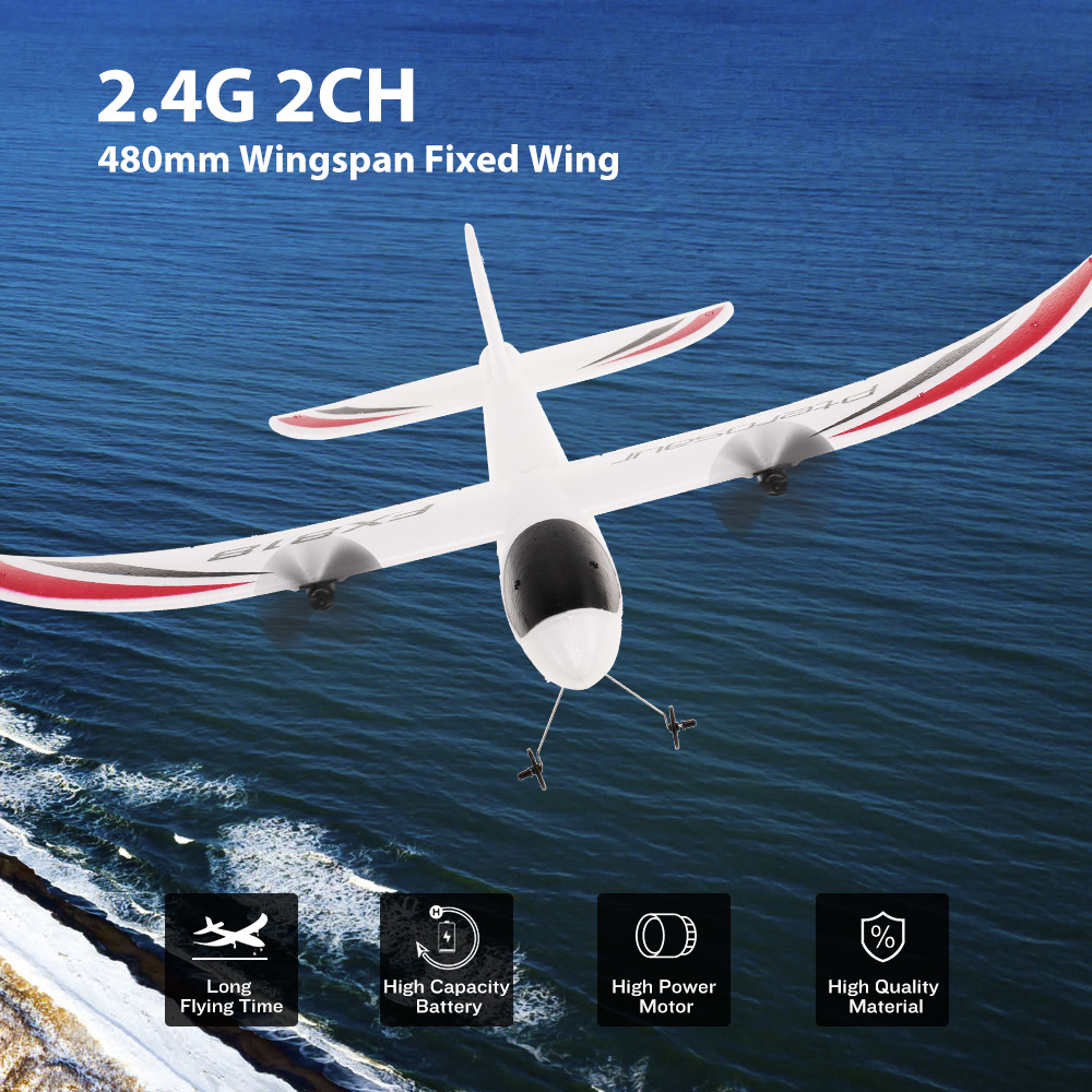 RC Airplane FX-818 2.4G 2CH 480mm Wingspan Remote Control Glider Fixed Wing RC Aircraft RTF RC Toys Easy Controlled eboyu tm volantex rc tw781 cessna 2 4g 2ch rc airplane 200mm wingspan mini epp infrared remote control indoor drone aircraft
