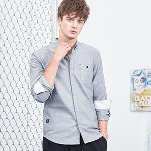 Image 2 - パイオニアキャンプ新長袖服シンプルな固体シャツ男性ソフト綿 100% メンズ ACC801460
