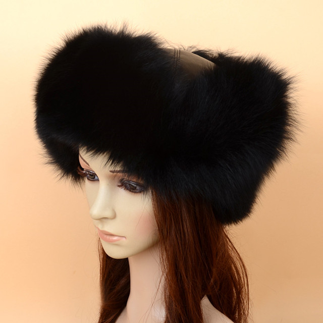 Women Fox Bomber Hat Real Fur Hat Personality Style Pattern Fast Delivery Special One Grade Material Keep Warm SF13060-22