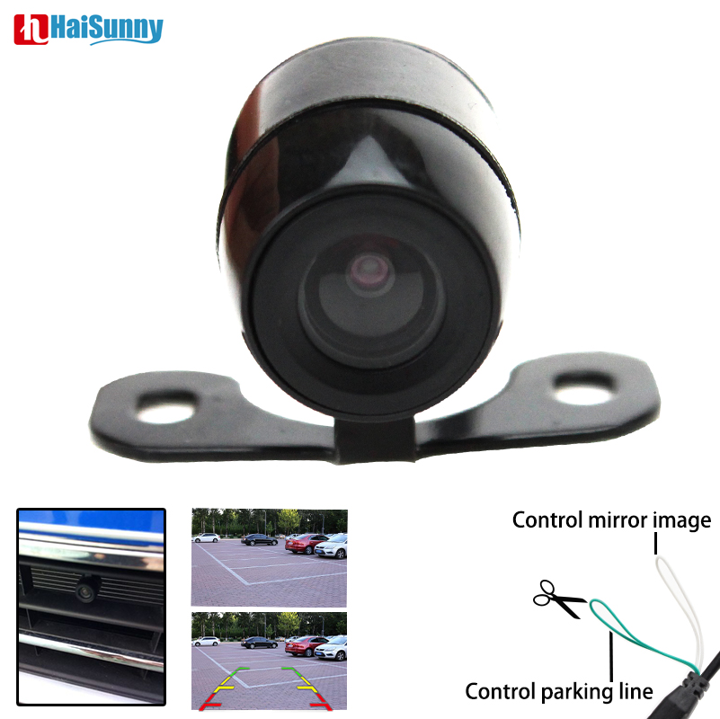 HaiSunny Car Vehicle Rearview Front Side View Backup Reversing Camera 4 Pin Interface With Or Without Mirror Image Convert Line