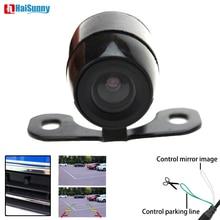 HaiSunny автомобиля заднего вида спереди сбоку резервного копирования Реверсивный камера 4 Pin интерфейс с зеркалом или без