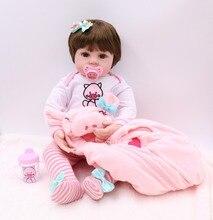 60 cm de silicona de vinilo gran muñeca realista recién nacido niñas l o l niño muñecas Juguetes De niño, regalo de cumpleaños de regalo Juguetes