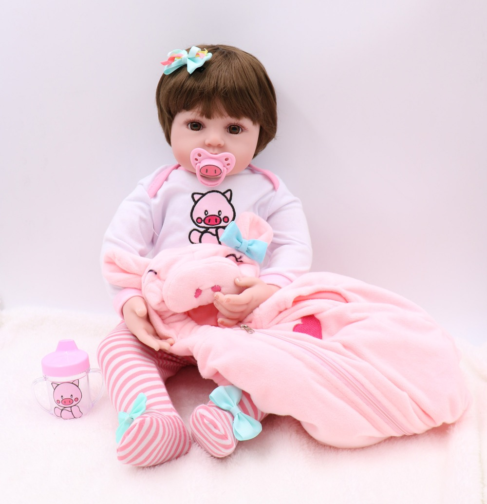60cm Silicone Vinyl big Reborn Baby Doll Lifelike Newborn Girls l.o.l Toddler Dolls toddler toys Kids Birthday Gift Present toys60cm Silicone Vinyl big Reborn Baby Doll Lifelike Newborn Girls l.o.l Toddler Dolls toddler toys Kids Birthday Gift Present toys