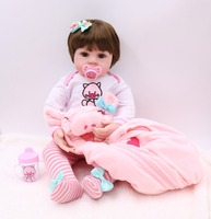 60cm Silicone Vinyl big Reborn Baby Doll Lifelike Newborn Girls l.o.l Toddler Dolls toddler toys Kids Birthday Gift Present toys