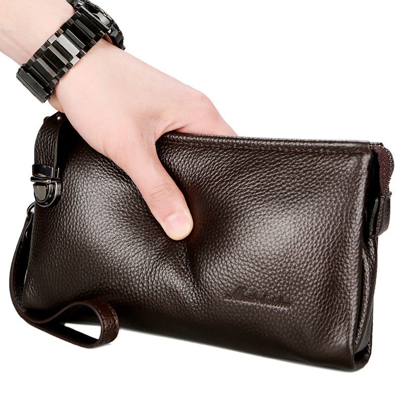 2018 Brand Design Men Wallets Long Men Purse Wallet Male Clutch Genuine Leather Zipper Wallet Men Business Male Wallet Coin все цены