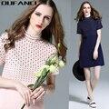 Maxi dress promoção de venda quente do joelho-comprimento casual plus size pulôveres diamantes a-line dress 2016 gola das mulheres de lã inverno