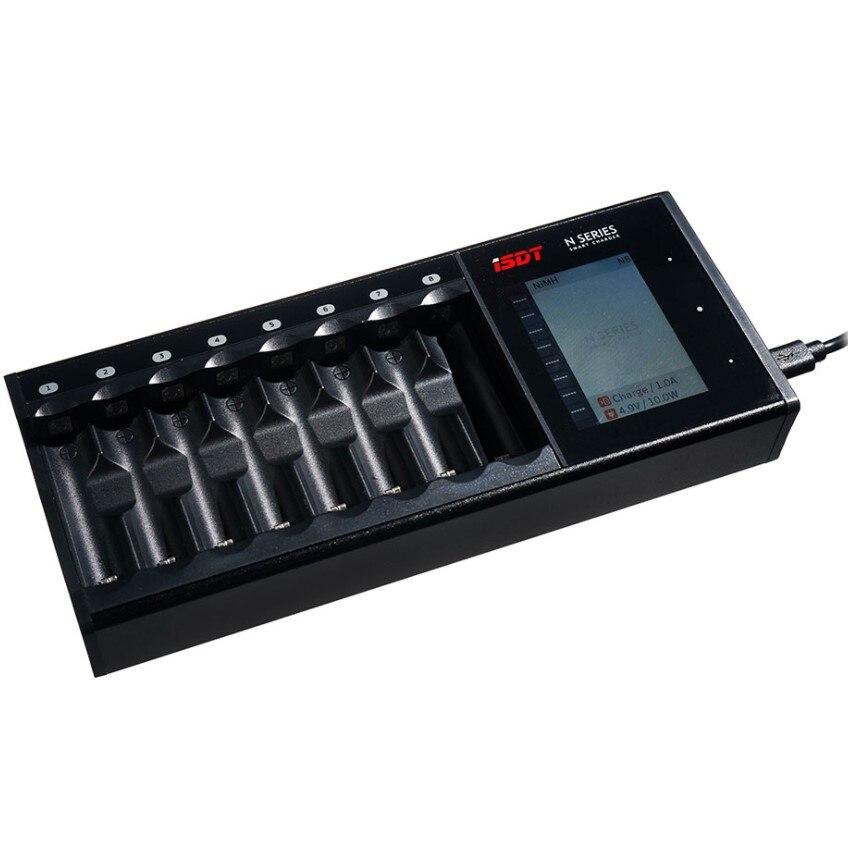 D'ISDT PORTANT SUR la N8 8 Slots AAA AA Batterie Chargeurs LCD Affichage Smart batterie Rapide Chargeur Li-ion Vie Ni-MH Ni-Cd C SC
