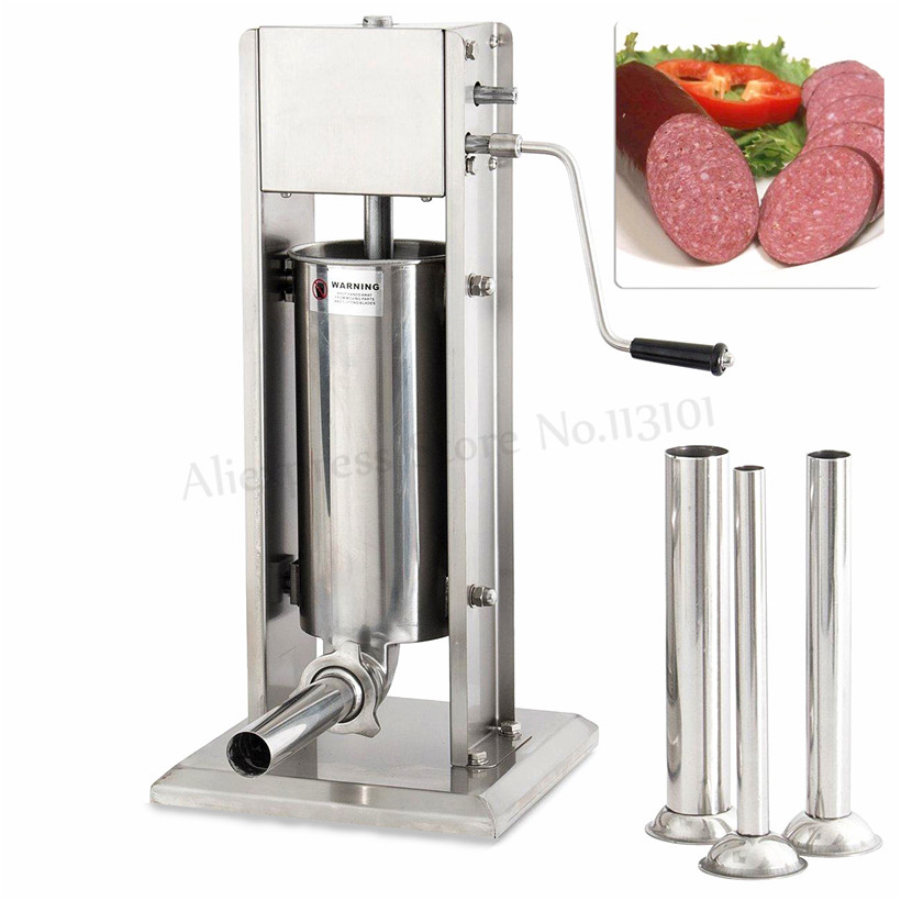 5L Household Vertical Sausage Stuffer Stainless Steel Sausage Maker Spanish Churros Maker Machine Commercial Churro Extruder