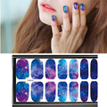 14pcs/Sheet Nail Wraps Full Stickers Flower Starry Sky Pattern Nail Decoration 077-080 #34656