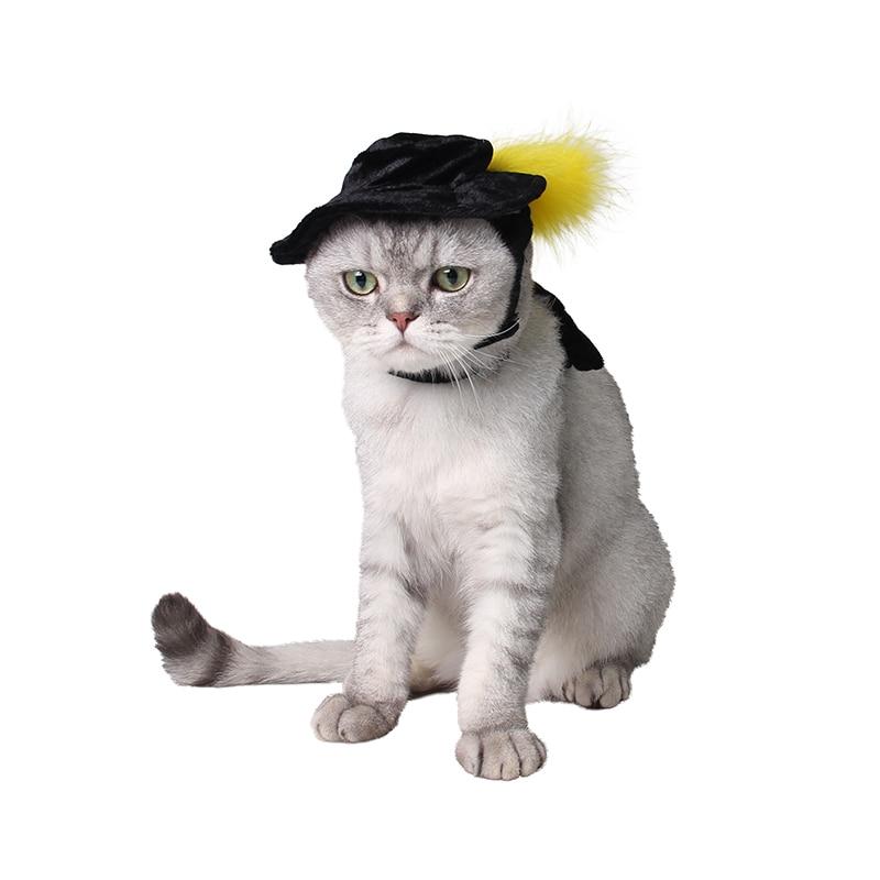 factory direct sale pet cat stage cool classic hat and cloak pet cat suit