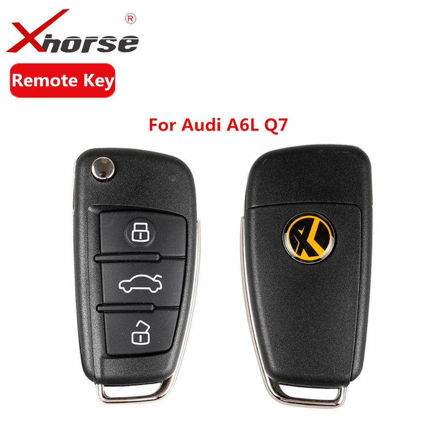 Xhorse Universal X003 Wire Remote Key 3 Buttons For Audi A6L Q7 Type Remote Key Shell Chip For VVDI2 For VVDI Key Tool